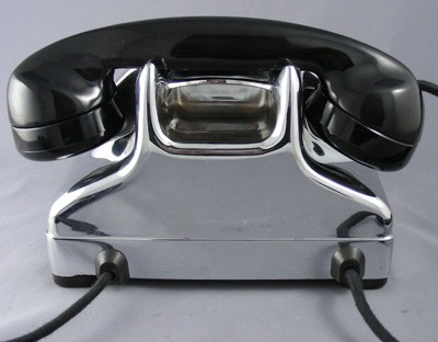Connecticut TP-6-A Vintage Telephone - Chrome Edition Front View