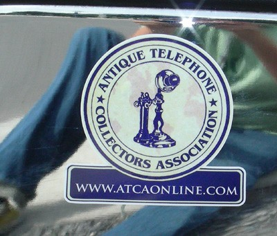 Decals and Stickers Antique Telephone Collectors Association Sticker Front View