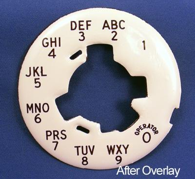 Alaphanumeric dial plate overlay After View