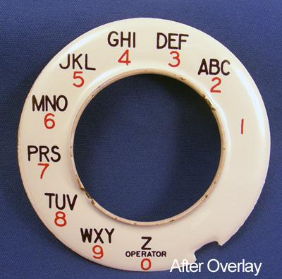 Automatic Electric dial plate overlay After View