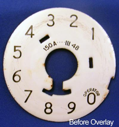 Numeric Dial Plate overlay Before View