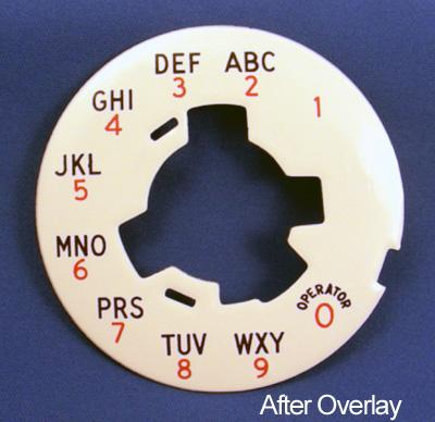 Red Alphanumeric dial plate overlay After View