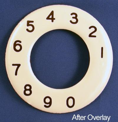 North Electric Numeric Dial Plate Overlay After View