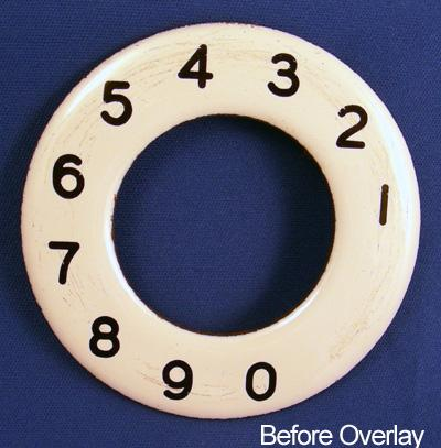 North Electric Numeric Dial Plate Overlay Before View