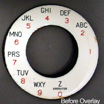 North Electric Alphanumeric Dial Plate Overlay Before View