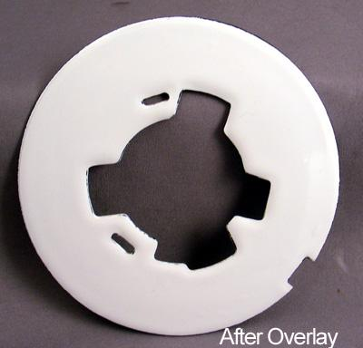White Blank Dial Plate Overlay After View