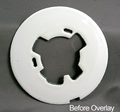 White Blank Dial Plate Overlay Before View