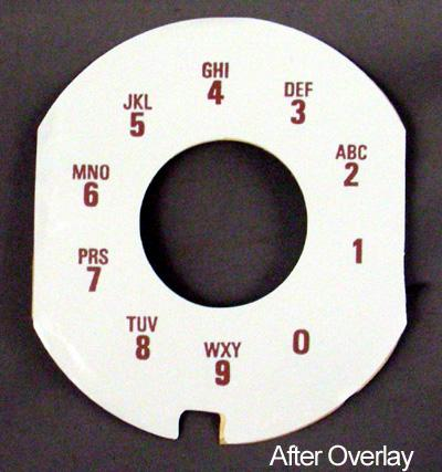 Nothern Electric  Alphanumeric Contempra Dial Plate Overlay After View