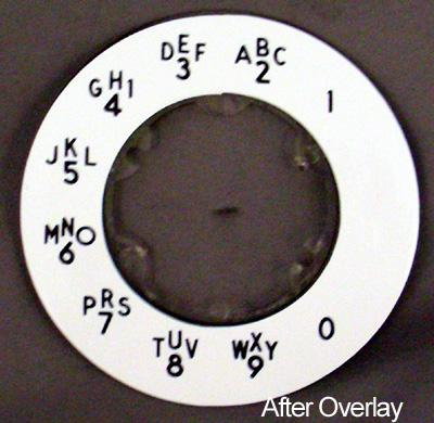 Western Electric  Alphanumeric Princess Dial Plate Overlay After View