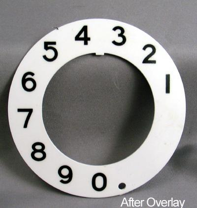 Stromberg Carlson Numeric Dial Plate Overlay After View