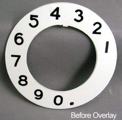 Stromberg Carlson Numeric Dial Plate Overlay Before View