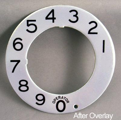Stromberg Carlson Metallic Dial Plate Overlay After View