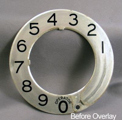 Stromberg Carlson Metallic Dial Plate Overlay Before View