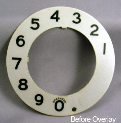 Stromberg Carlson Gray Numeric Dial Plate Overlay Before View