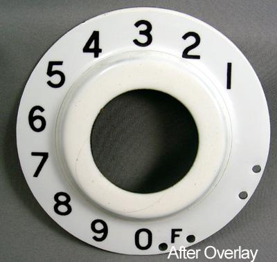 British Post Office (B.P.O.) Numeric Dial Plate Overlay After View