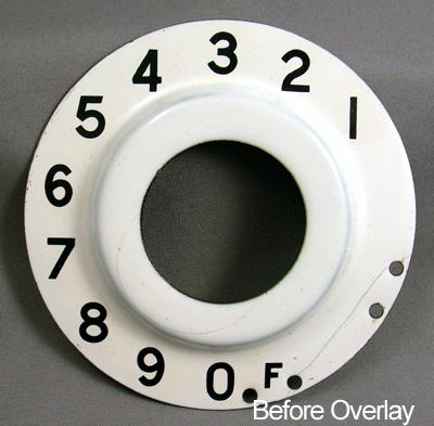British Post Office (B.P.O.) Numeric Dial Plate Overlay Before View