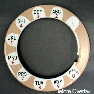 Western Electric Payphone Daisy Overlay - Beige Before View