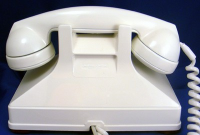 Northern Electric Model No. 1 Combined Deskset - White Front View