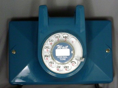 Northern Electric No. 2 Wall Phone - Blue Finish Front View