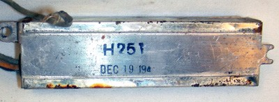North Electric H-450 Condensor Front View