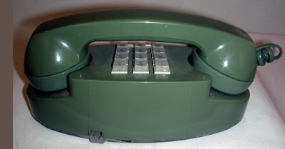 Western Electric 2702BMG - Green Touch Tone Front View