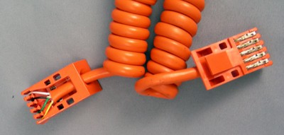 Cords,  Curly, Trimline, Orange Front View