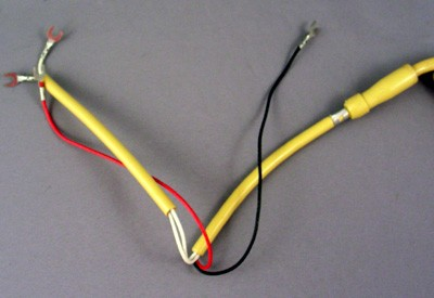 Cord, Handset, Curly, Harvest Gold, 5' Front View