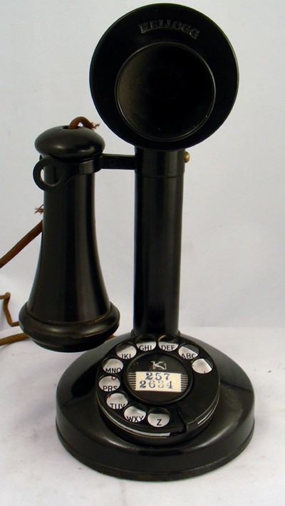 Kellogg Model 44 Dial Candlestick Front View