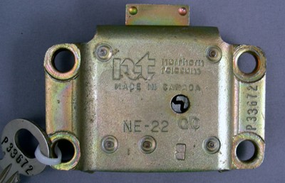 Northern Electric 22B Vault Lock and Key Front View