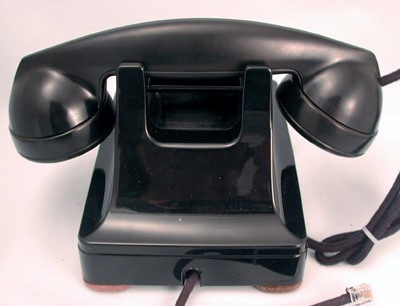 oldphoneworks antique phones all 302 black post war western electric model 302 front view