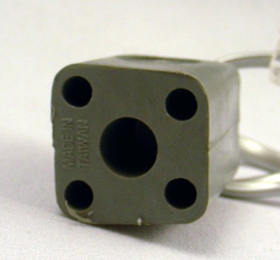 4 prong to modular plug adapter Front View