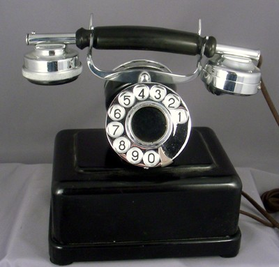 European Partner's 2 Dial Telephone- Chrome Trim Front View