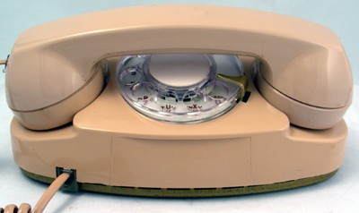 Western Electric 702- Beige Rotary Front View