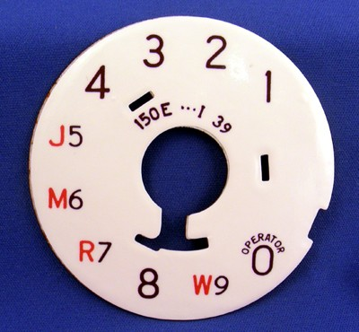 Restored Western Electric no. 4 Dial plate - Party Line Front View