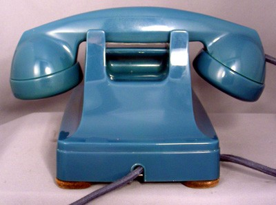 Western Electric Blue Model 302 - Fully Refurbished Front View