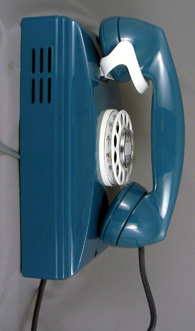 Northern Electric Custom Blue 352 Wall Phone Front View
