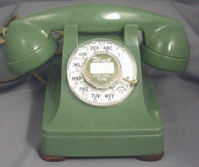 Western Electric Green Model 302 - Fully Refurbished Front View