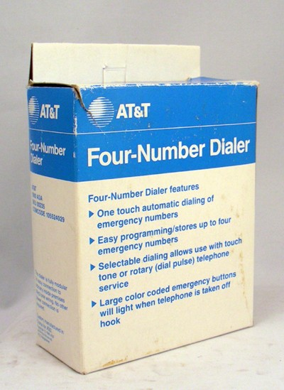 Four Number Dialer Front View