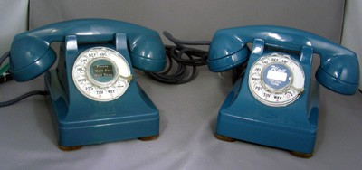 Western Electric Painted Blue Model 302 Front View