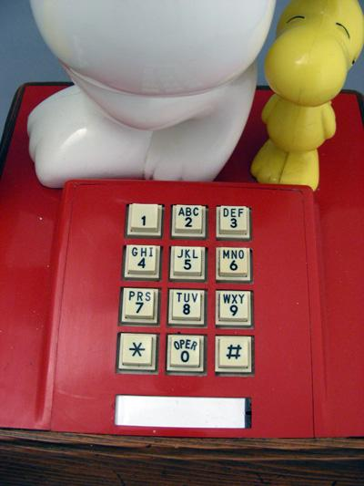 The Snoopy and Woodstock Telephone Dial View