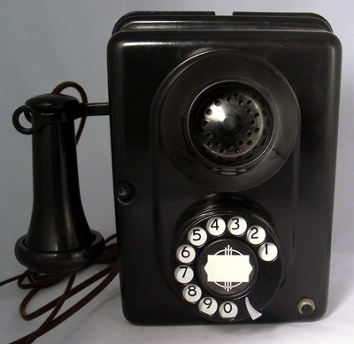 Automatic Electric Type 21 Wall Phone- Bulldog Front View