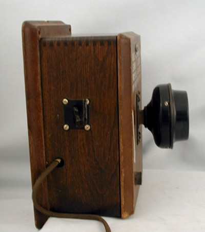 Northern Electric Original Northern Electric 293RA Wood Railway Phone Front View