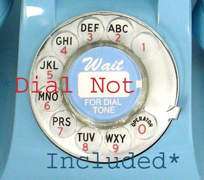 Western Electric Clear Fingerwheel Front View