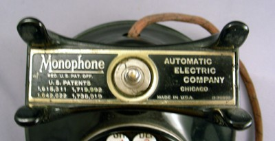 Automatic Electric A1 Desk monophone Front View