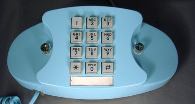Western Electric Aqua Blue 2702 Front View