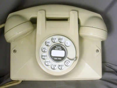 Northern Electric No. 2 Wall Phone - Ivory Finish Front View