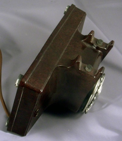 Northern Electric No. 2 Wall Phone - Brown version Front View
