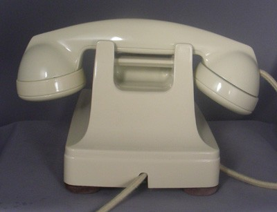 Western Electric 302 - Refinished Ivory Front View