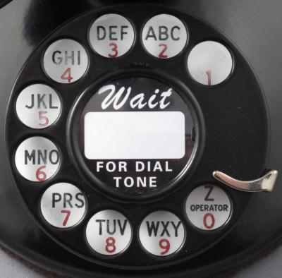 51AL Candlestick Telephone with 5H Dial - Dial View