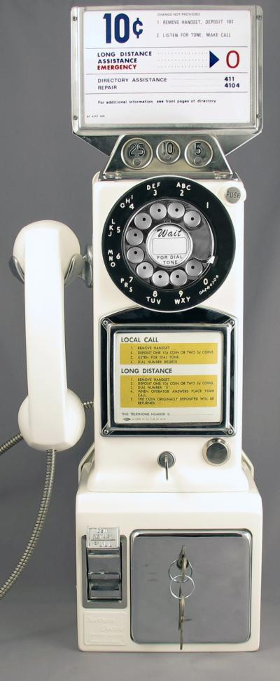 Model 233 3 Slot Payphone - Front View